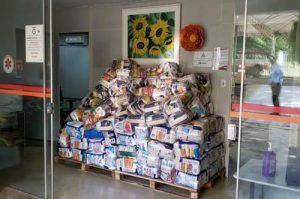 Samuzeiros arrecadam alimentos e doam para famílias carentes - Foto: Divulgação
